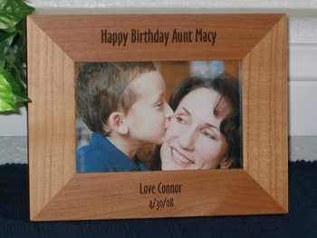 Personalized Picture Frame - Engraved Frame - Laser Engraved Text