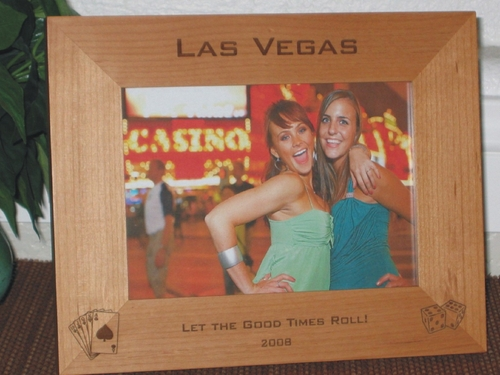 Poker Picture Frame - Personalized Frame - Laser Engraved Dice - Cards