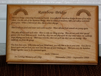 Rainbow Bridge - Pet Memorial - Personalized Sympathy Gift