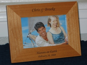 Romantic Picture Frame - Personalized Frame - Laser Engraved Text