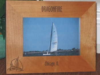 Sailboat Picture Frame - Personalized Frame - Laser Engraved Sailboat