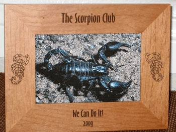 Scorpion Picture Frame - Personalized Frame - Laser Engraved Scorpions