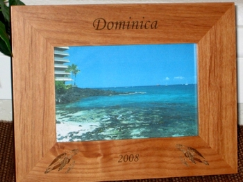 Sea Turtles Picture Frame - Personalized Frame - Laser Engraved Sea Turtles