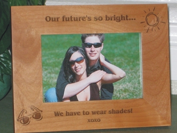 Shades Picture Frame - Personalized Frame - Laser Engraved Sunglasses - Sun