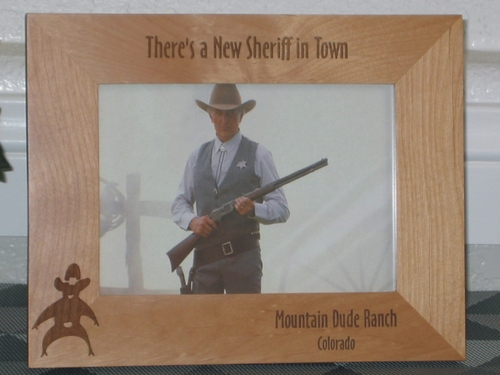 Sheriff Picture Frame - Personalized Western Frame - Laser Engraved Sheriff