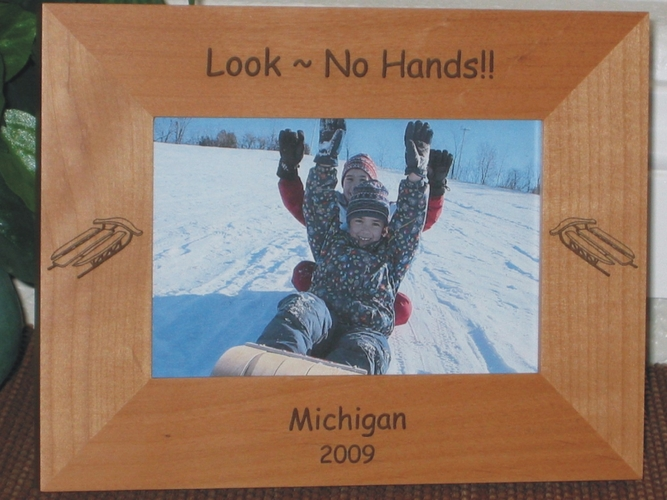 Sled Picture Frame - Personalized Frame - Laser Engraved Sleds