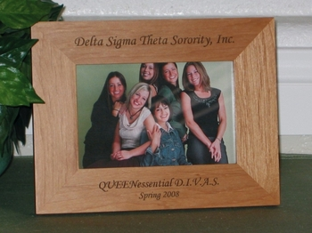 Sorority Picture Frame - Personalized Frame - Laser Engraved Text