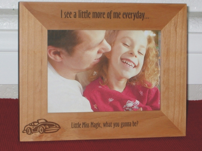 Sports Car Picture Frame - Personalized Frame - Laser Engraved Convertible Sports Car