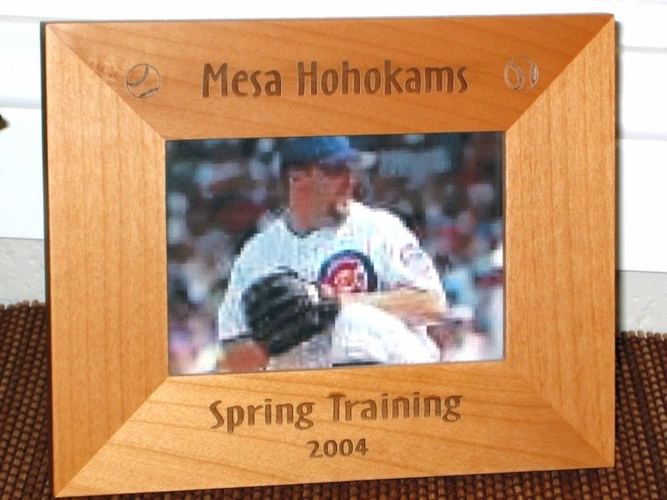 Sports Picture Frame - Personalized Frame - Football, Baseball, Soccer
