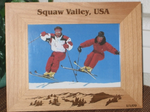 Squaw Valley Picture Frame - Personalized Frame - Laser Engraved Ski Mountains