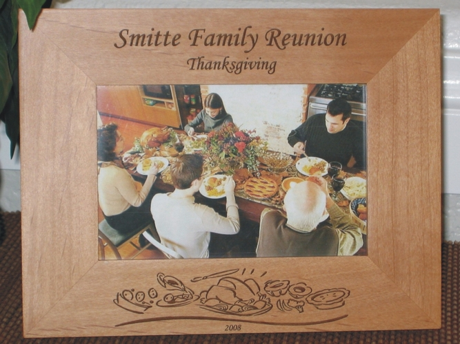 Thanksgiving Picture Frame - Personalized Frame - Laser Engraved Thanksgiving Theme