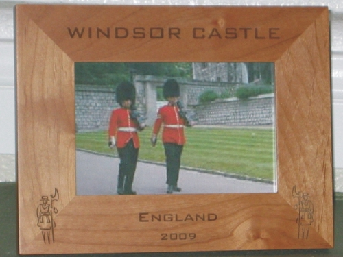 Tower of London Picture Frame - Personalized Frame - Laser Engraved Beefeaters