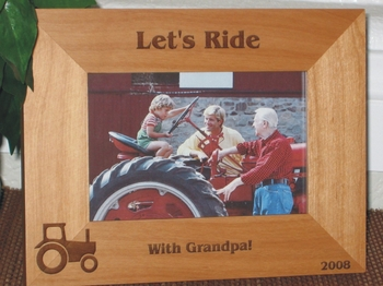 Tractor Picture Frame - Personalized Frame - Laser Engraved Tractor