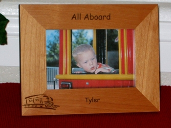 Train Picture Frame Personalized Frame - Laser Engraved Train