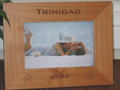 Trinidad Picture Frame - Personalized Frame - Laser Engraved Star Fish