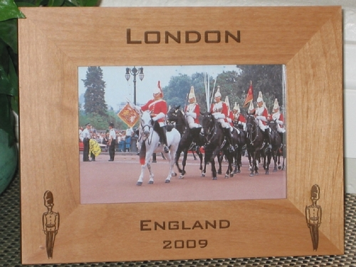 Windsor Castle Picture Frame - Personalized Frame - Laser Engraved Windsor Guard