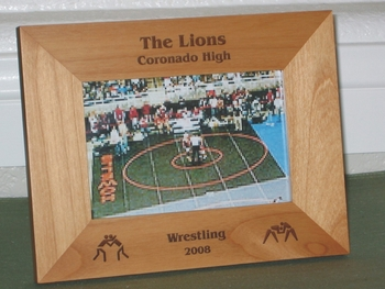 Wrestling Picture Frame - Personalized Frame - Laser Engraved Wrestling