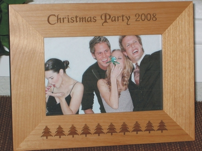 Xmas Tree Banner Picture Frame - Personalized Frame - Laser Engraved Chistmas Tree Banner