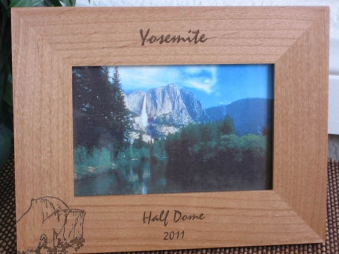 Yosemite Picture Frame - Personalized Frame - Laser Engraved Half Dome