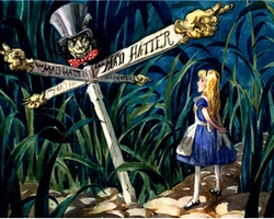 All Roads Lead To The Mad Hatter Large