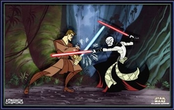 Anakin Vs Asajj from Star Wars