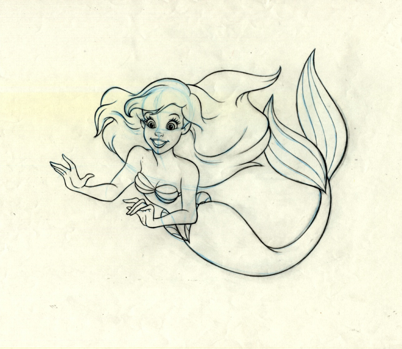Ariel The Little Mermaid Original Production Drawing ...