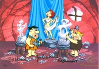 Art Class Ltd Ed Cel<br> Signed  - Flintstones