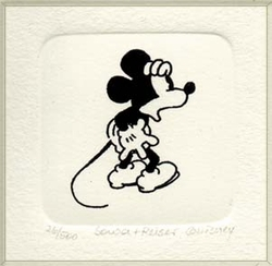 B&W Etching of Mickey Mouse