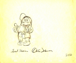 """Bashful  from """"Snow White""""(1937)<br> Signed Prod Drawing #250"""