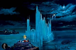 Blue Castle from <br>Pinocchio Canvas