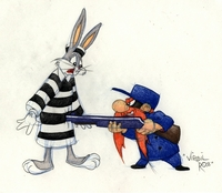 Bugs and Yosemite Sam - Warner Bros. By Virgil Ross