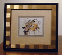 "Bugs Bunny ""Still a Stinka"" Mini Giclee Framed - Bugs Bunny Art"