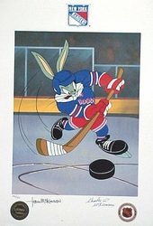 Bugs NY Rangers signed by Tom & Charles McKimson