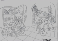 Bugs, Taz, Daffy, Tweety & Sylvester - Production Drawings