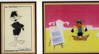 Daffy Duck Cel and Lobby Card - Production Cels
