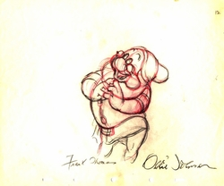 "Doc  from ""Snow White""(1937)<br> Signed Prod Drawing #12"