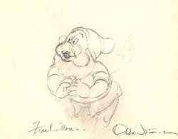 "Doc  from ""Snow White""(1937)<br> Signed Prod Drawing #72"