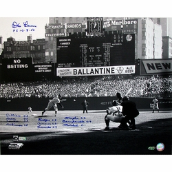 Don Larsen Autographed<br> PG 10-8-56 Perfect Game <br>First Pitch 16x20 Photograph