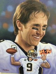 Drew Brees Painting