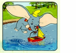 Dumbo & Timothy Color Book Art<br> #3 from Circa 1970's
