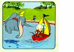 Dumbo & Timothy  Color Book<br> Art #4 from Circa 1970's