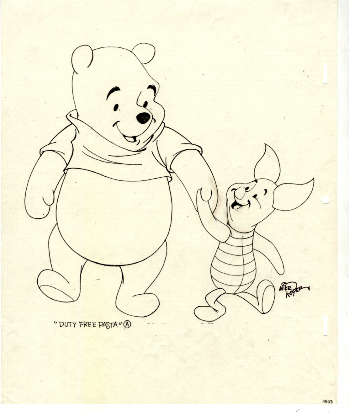 Winnie The Pooh And Piglet Holding Hands