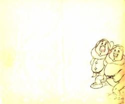 """Dwarfs from """"Snow White""""(1937)<br> Prod Drawing #23A"""