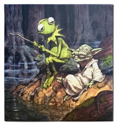 Easy Being Green It Is Not (Yoda and Kermit)
