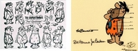 Flintstones - Fred's Model Sheet HC<br><font color=red>Please Call - Flintstones