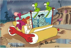 Flintstones Windshield Wiper<br> Ltd Ed Cel Signed.