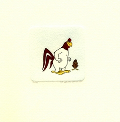 Foghorn Leghorn & Henery <br>Hawk Small Etching
