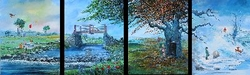 Four Seasons Suite from <br>Winnie The Pooh Canvas