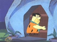 Fred at the door Production Cel(1980's) - Flintstones