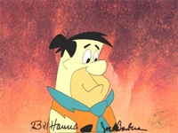 Fred Flintstone Production Cel (1980's) - Flintstones